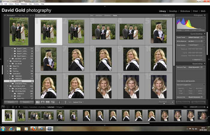 Lightroom 3 Library web size